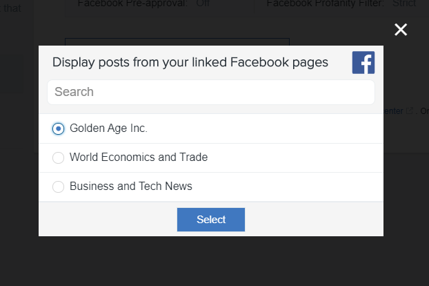 Setting up a Facebook Feed – Enplug Support Center