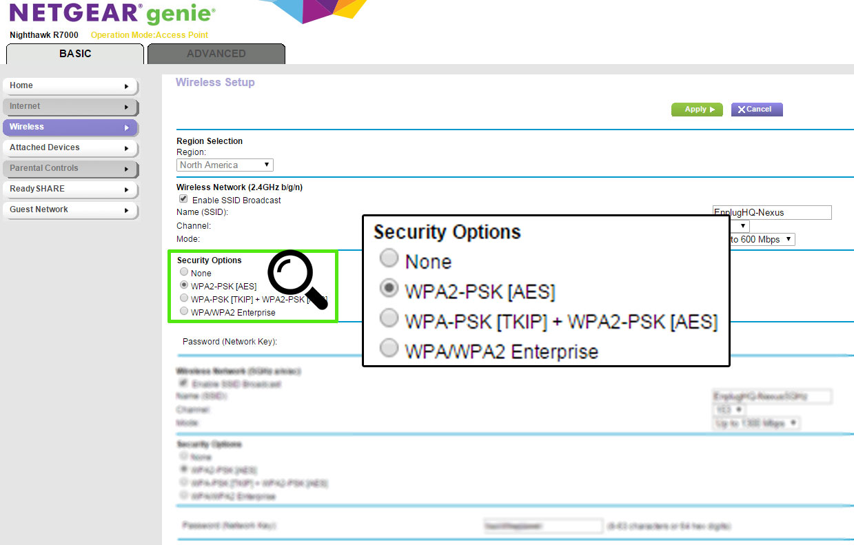 Setting your WiFi encryption as WPA2-PSK – Enplug Support Center
